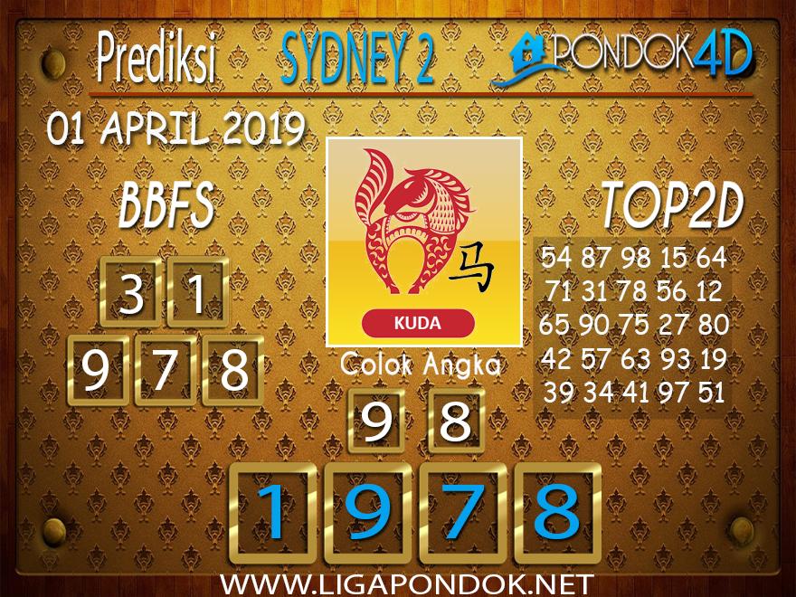Prediksi Togel SYDNEY 2 PONDOK4D 01 APRIL 2019