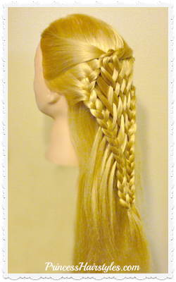 Pretty half up woven and braided hairstyle, video tutorial.