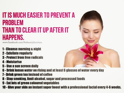 tips for a healthy skin