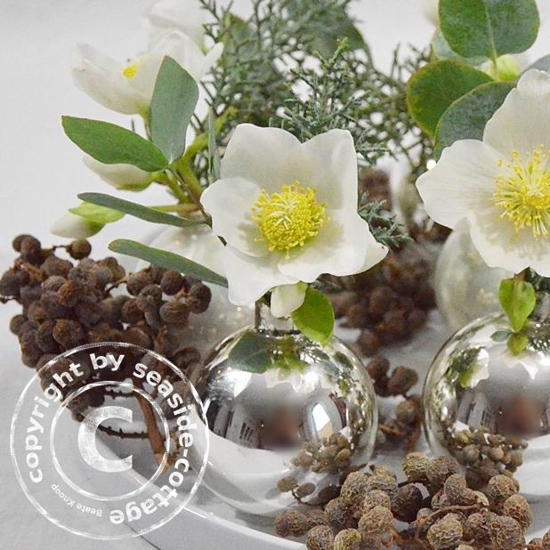 Seaside cottage diy weihnachtliche tischdeko mit for Deko topfpflanzen