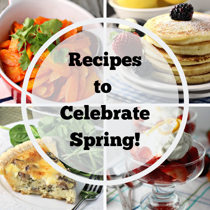 Collage of recipes to celebrate spring