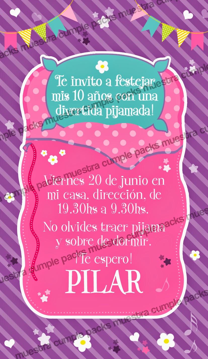 Tarjetas De Invitacion De Cumpleaños Para Niñas
