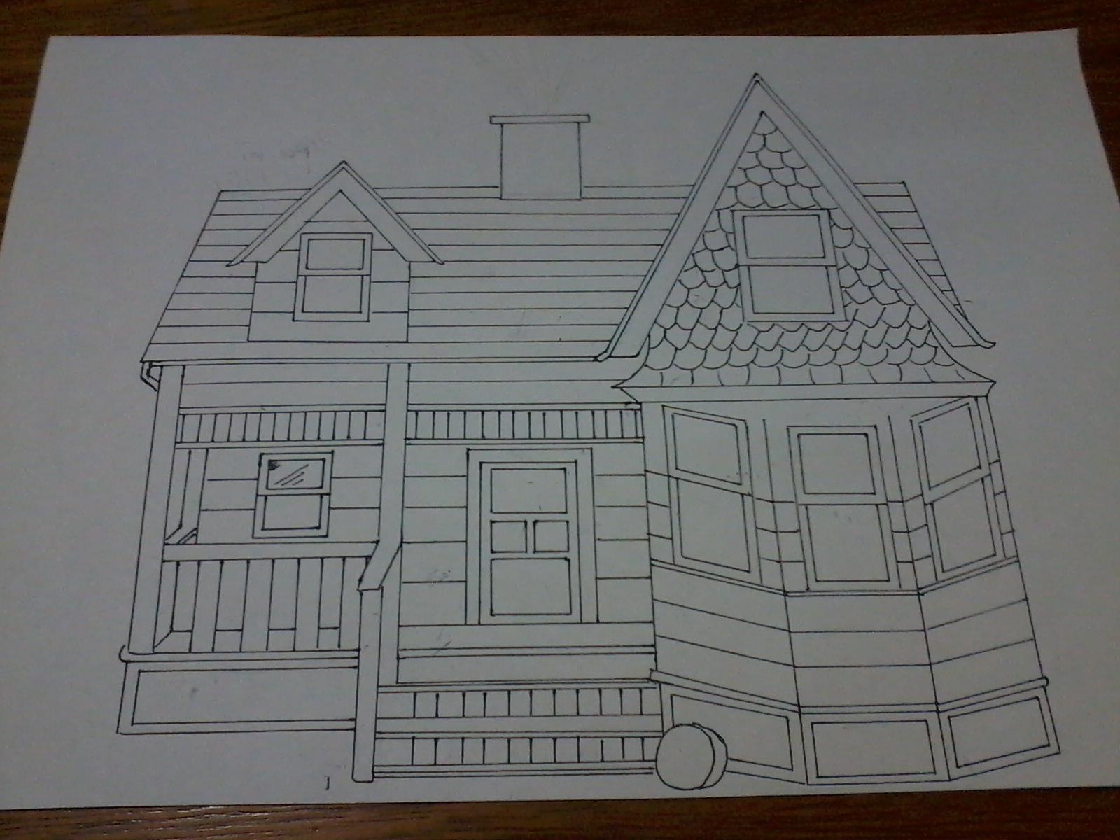 Sketchs Casa Carl E Ellie Up