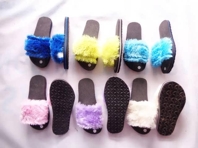 Sandal Slop Bulu  TG GSJ - Pabrik Sandal Jepit Murah