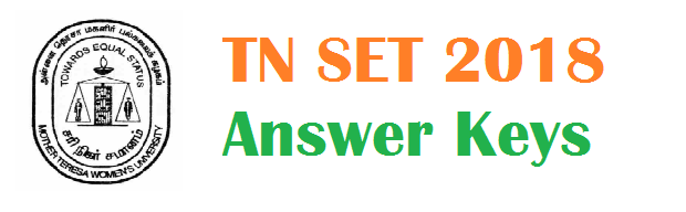 TN SET Exam 2018 Answer Keys Published 06.03.2018