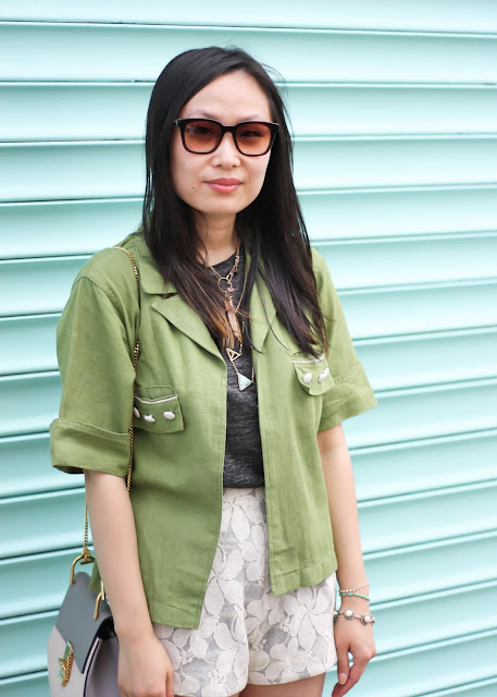 Army Green Vintage Jacket Fashion Blog