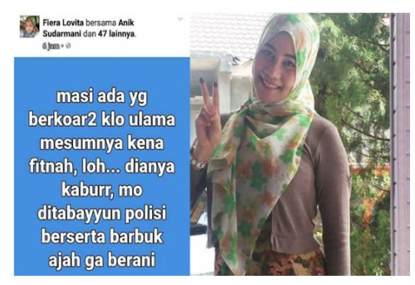 Fitnah Ulama di Facebook, Dokter Fiera Lovita Menangis Saat Didatangi Umat Islam dan Polisi