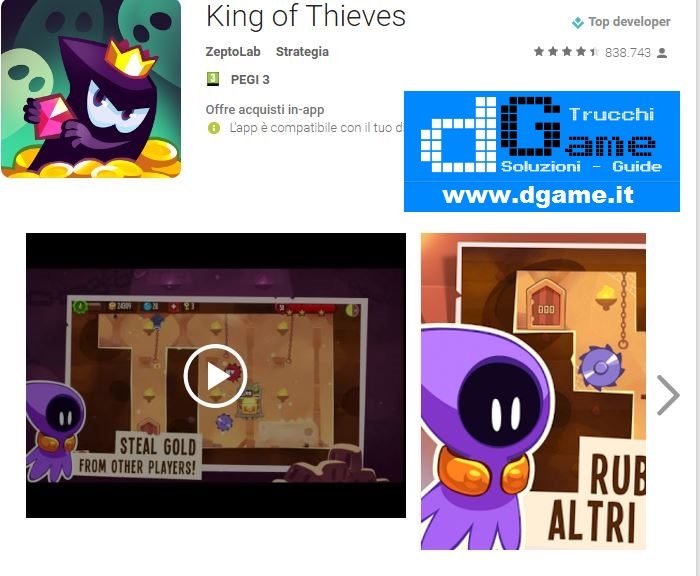 Trucchi King of Thieves Mod Apk Android v2.12