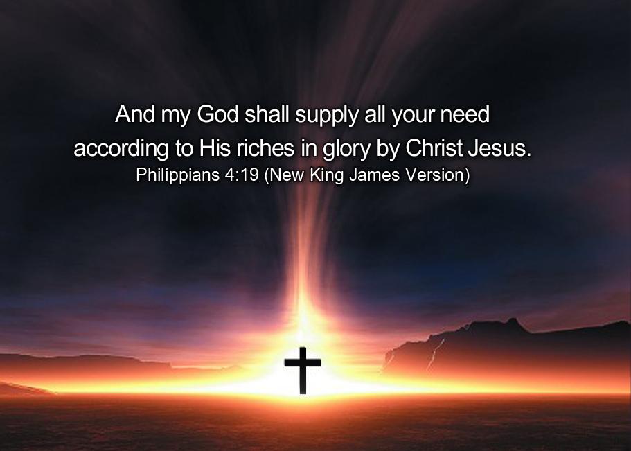 Image result for my god shall supply kjv