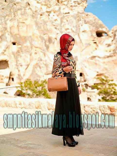 Model Model Baju Muslimah Setelan Dengan Tas