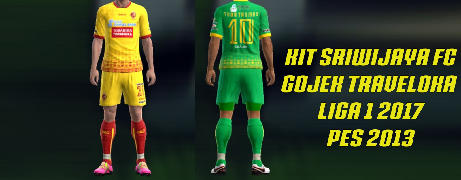 Kit Sriwijaya FC Gojek Traveloka Liga 1 2017 PES 2013