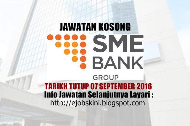 jawatan kosong di sme bank september 2016
