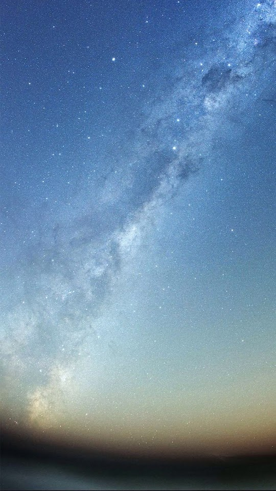 Milky Way Over Horizon  Galaxy Note HD Wallpaper