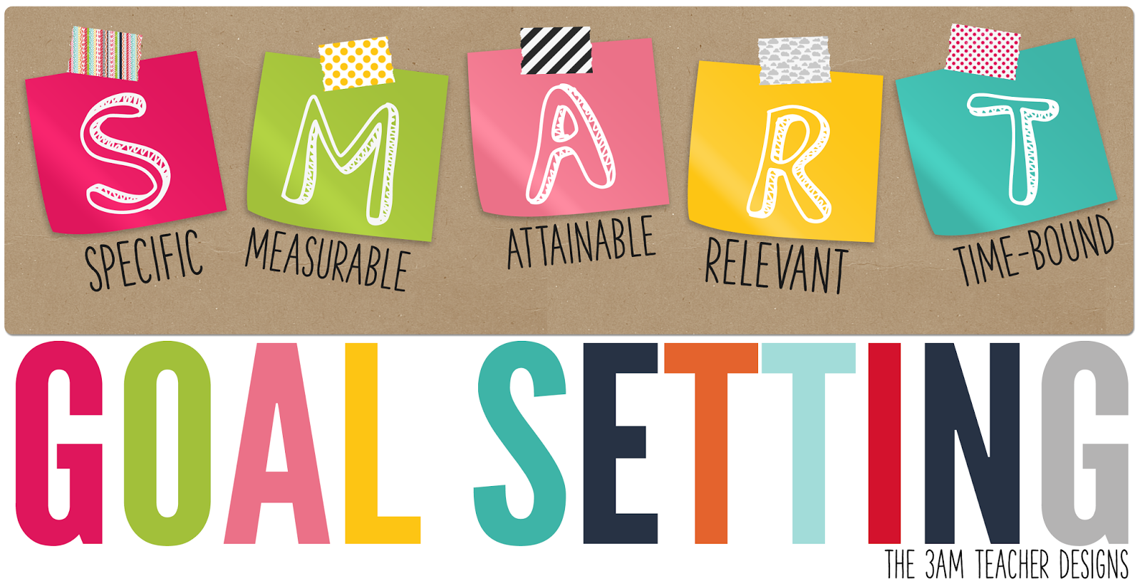 The 3am Teacher S M A R T Goal Setting Tips Amp Printable