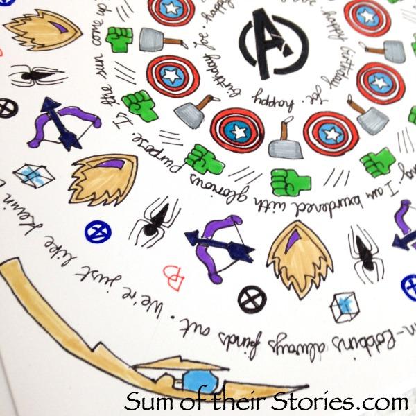 Superhero Themed Mandala Greeting Card
