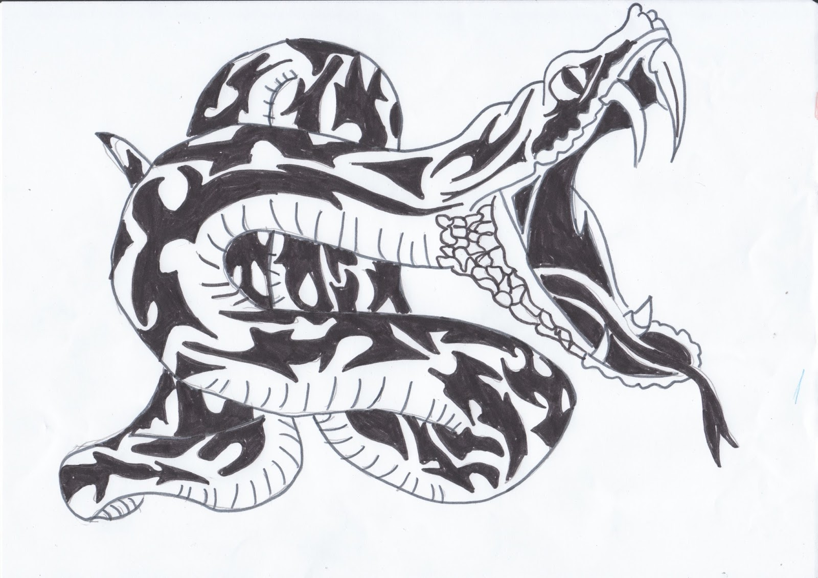 3d Dessin Facile Serpent Dessin Fonds D 39écran Hd