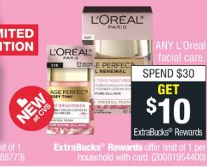 LOreal facial care cvs deal