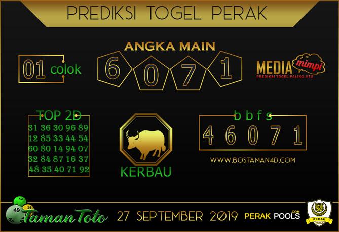 Prediksi Togel PERAK TAMAN TOTO 27 SEPTEMBER 2019