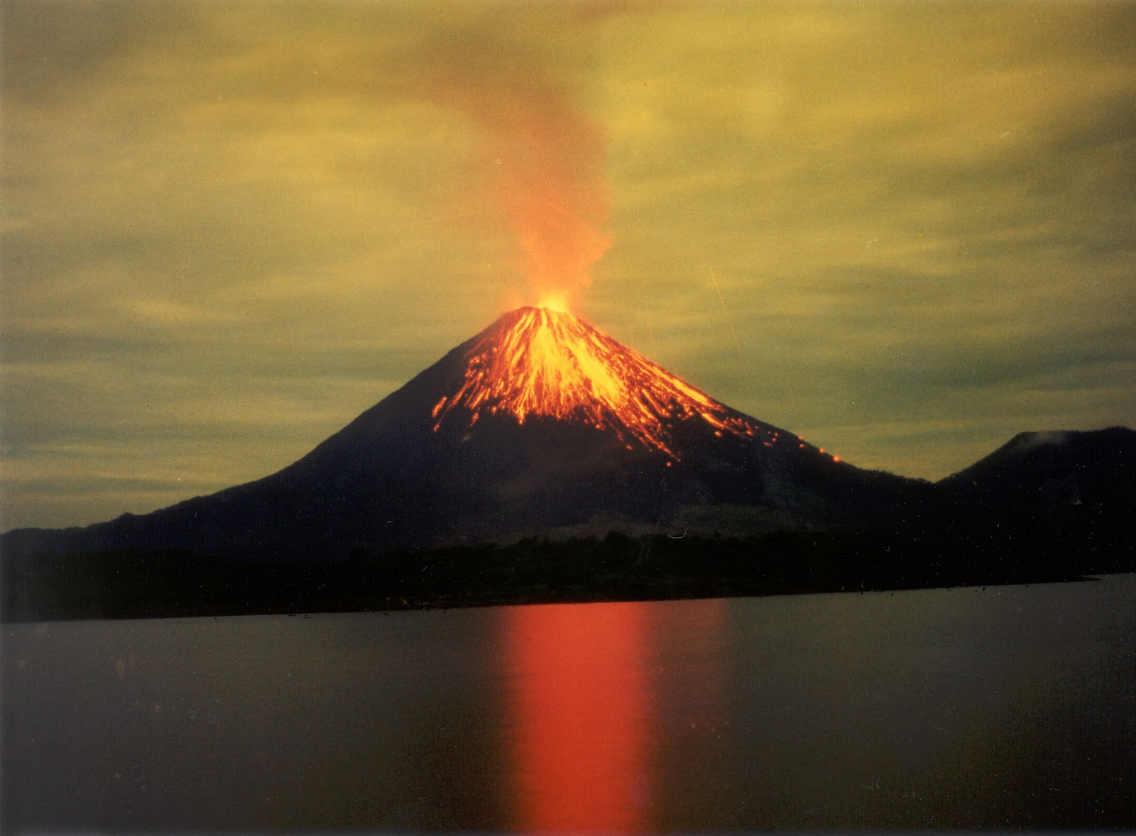 South American Volcano Erupts