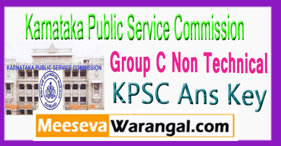 KPSC Group C Non Technical Ans Key Expected Cut Off 2017