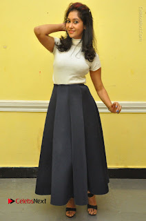 Telugu Actress Sindhu Affan Latest Pos in Black Skirt at Www.Meena Bazaar Movie Opening  0051.JPG