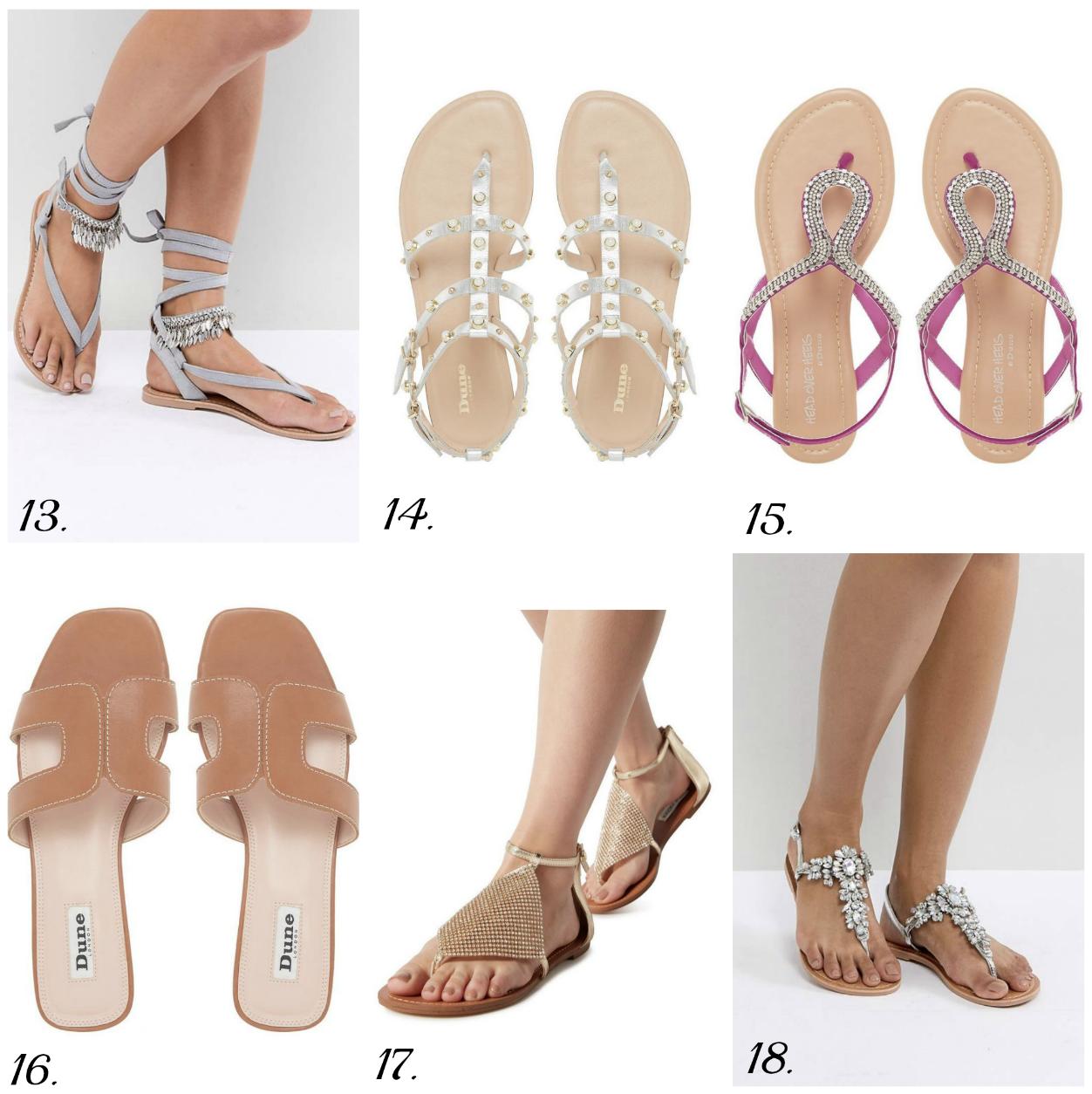 The best flat sandal styles for summer 2018