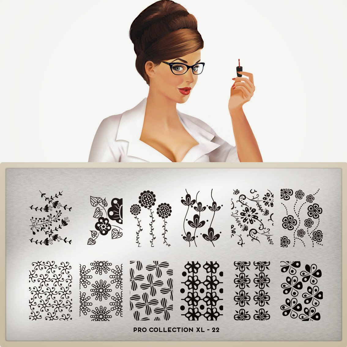 Lacquer Lockdown - MoYou London, MoYou London Pro Collection, new stamping plates 2014, new nail art stamping plate s2014, new nail art image plates 2014, nail art stamping blog, nail art stamping, nail art, stamping, diy nail art, cute nail art ideas, Pro Collection, floral nail art, flow nail art