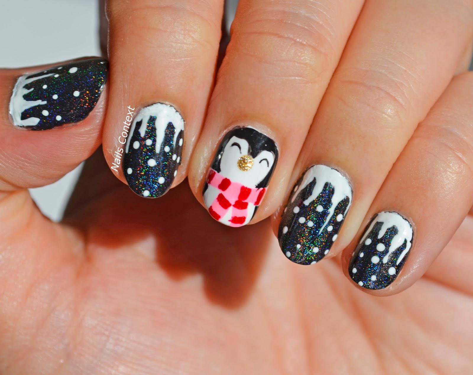 Nails Context: Cute Penguin