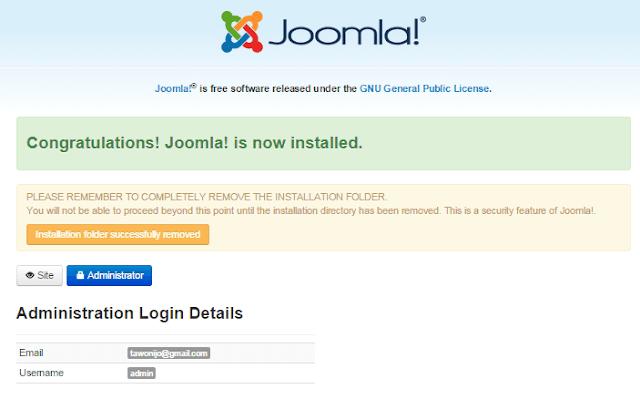 Cara terbaru install joomla 3 di localhost menggunakan xampp