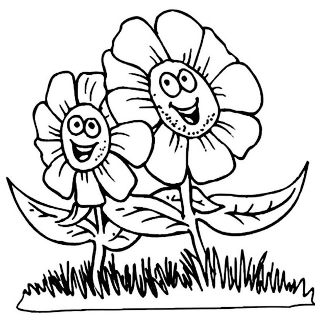 Flower Coloring Pages Printable Printable Flowers Coloring Pages Eassume  Gallery Coloring Ideas