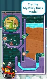 "Where's My Water? apk 1.13.1  <p> Get the GAME OF THE YEAR award-winning puzzler! Help Swampy by guiding water to his broken shower. Each level is a challenging physics-based puzzle with amazing life-like mechanics. Cut through dirt to guide fresh water, dirty water, toxic water, steam, and ooze through increasingly challenging scenarios! Every drop counts! • Original Stories & Characters – Play through 4 unique stories featuring Swampy, Allie, Cranky and Mystery Duck. That's over 500 amazing puzzles! • Innovative Mechanic – See water in various forms and use your creativity to solve the puzzles – totally stimulating!  • Collectibles, Challenges, and Bonus Levels – Collect special items uniquely designed for each character and complete cool challenges to unlock bonus levels! ""Tri-Duck"" each level for ultimate bragging rights! • Brand New Levels Every Week – Hurry and play before they expire, and be sure to use 'Photo Finish' to share how you beat the new levels! SWAMPY'S STORY  Swampy the Alligator lives in the sewers under the city. He's a little different from the other alligators – he's curious, friendly, and loves taking a nice long shower after a hard day at work. But there's trouble with the pipes and Swampy needs your help getting water to his shower! ALLIE'S STORY Allie is the sewer's most creative alligator. Her quirky spirit and artistic talents made her a star. Now, the gators have crafted a one-of-a-kind steam-powered musical instrument, and can't wait to hear her play it! Help Allie get the steam she needs and enjoy her take on classic Disney tunes. CRANKY'S STORY  Cranky, a real gator's gator, has a big appetite and will eat anything, from tires to old fish bones. But he refuses to eat his greens! Use the dirty purple water to clear the algae on Cranky's plate so he can gobble up his ""food"". MYSTERY DUCK  Catch this fancy teleporting Mystery Duck in this special chapter and hint hint - timing is everything! Find all kinds of surprises including the biggest duck ever, MegaDuck and cute little Ducklings!</p> <p>What's in this version : (Updated : Mar 27, 2015)  Minor bug fixes and optimized performance. This app has no advertisements</p>"