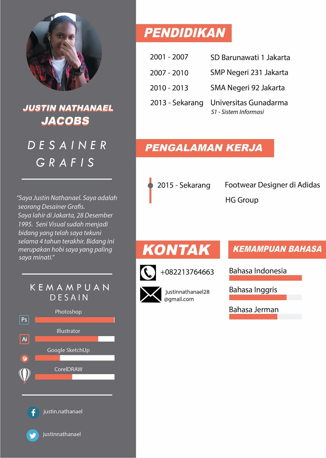 few weird things     contoh cv  curriculum vitae
