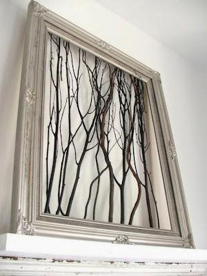 Cuadro con ramas