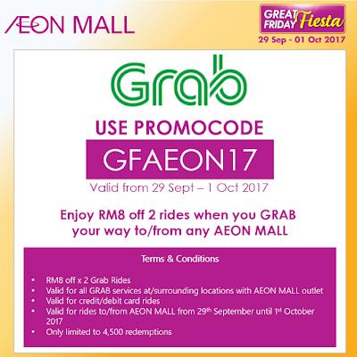 Grab Promo Code Malaysia AEON Mall