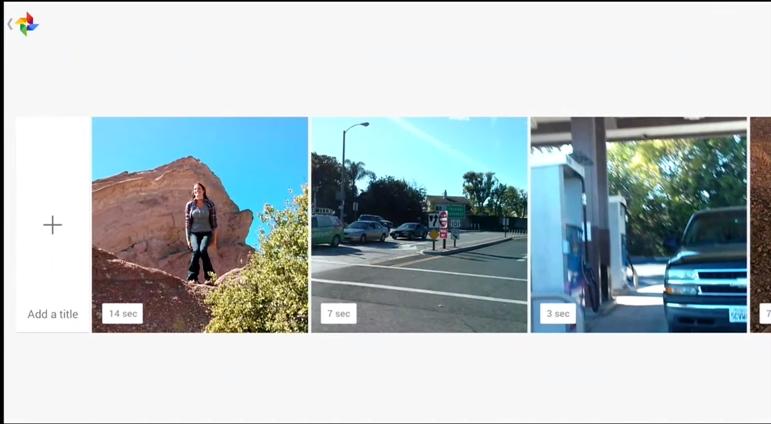 自動作成された動画を編集する機能