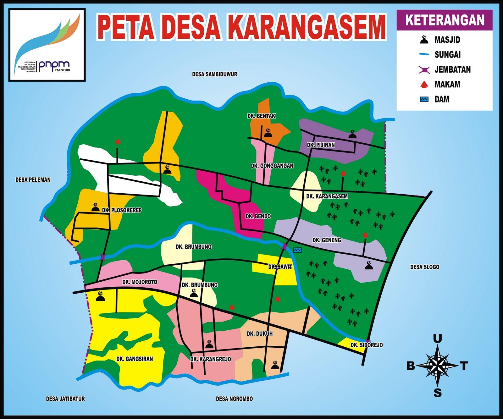 Peta Sosial Desa-desa di Kecamatan Tanon Pemanfaat Program ...