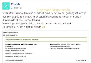 Logo Seconda donazione delle utenti di Friendz alla Croce Rossa Italiana