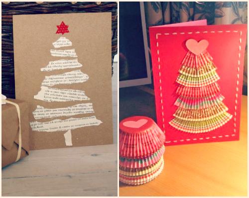 antes de pasar a las ideas para envolver regalos os enseo un par de fotos con etiquetas originales para los mismos originales hechas postales de navidad