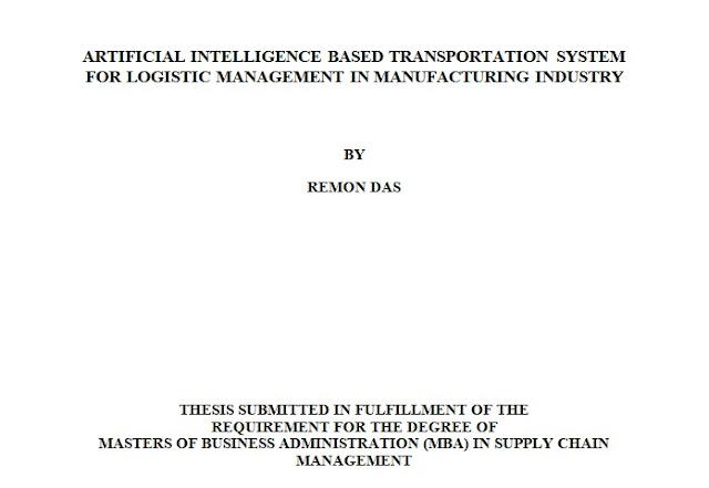 thesis logistics management