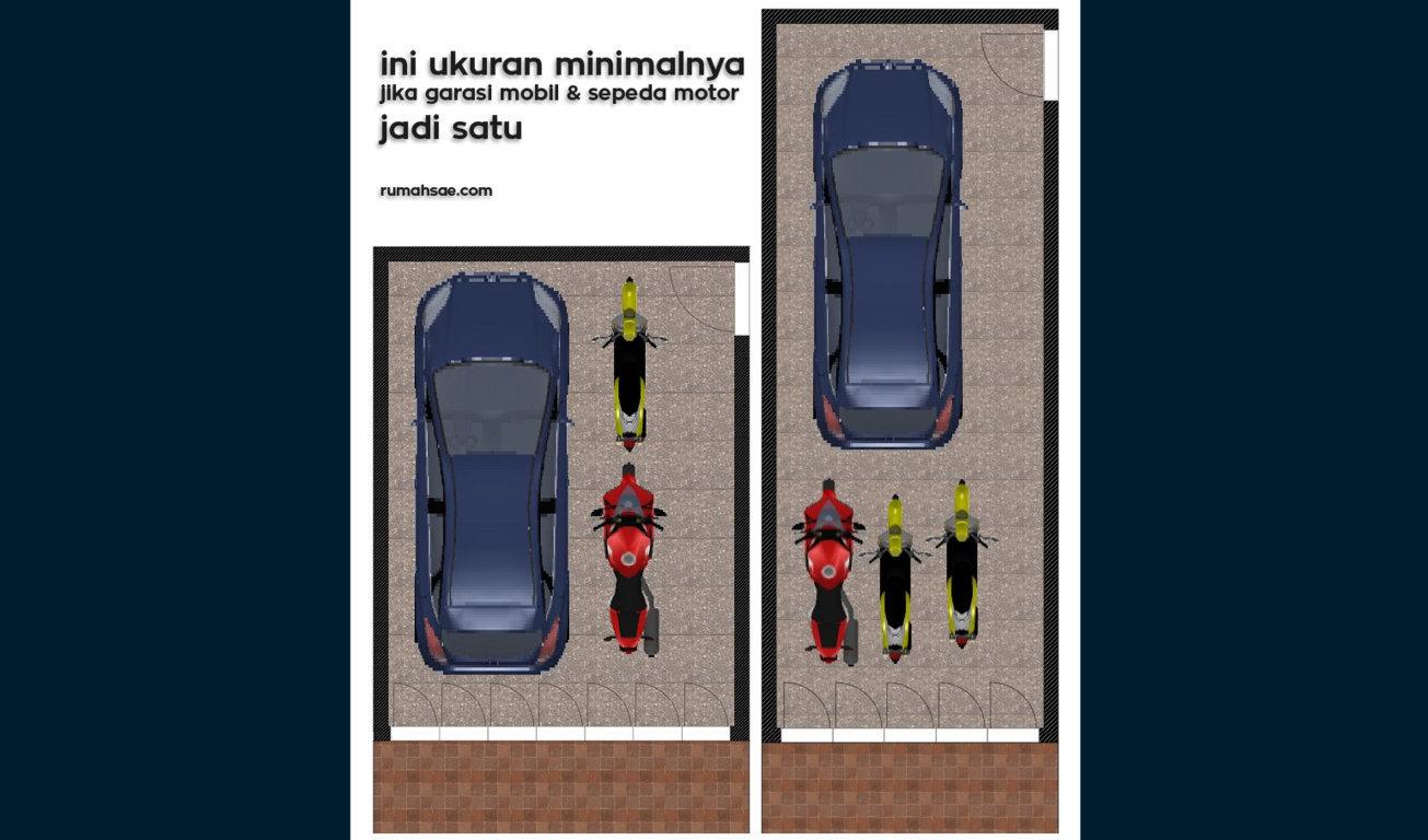 Ukuran Minimal untuk Garasi Mobil dan Sepeda Motor yang Jadi Satu