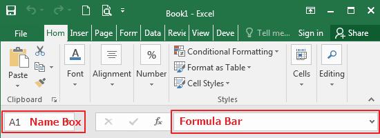 Formula Bar Excel