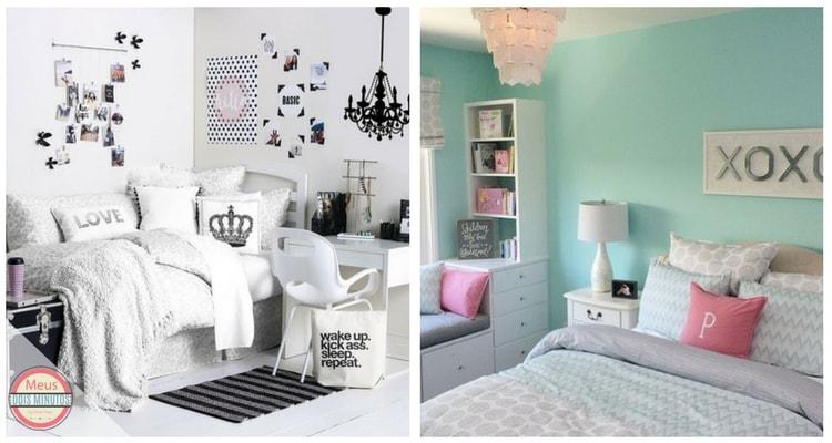quarto decorado com adesivo