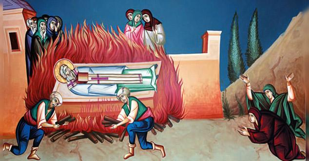 Спаљивање моштију Светог Саве, По смрти св. Саве у Трнову у Бугарској, његово свето тело би пренето у Србију и сахрањено у манастиру Милешеви, задужбини краља Владислава (1234-1243.), синовца светога Саве.