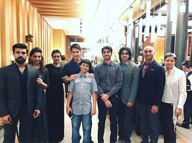 Ram Charan, Upasana with Mahesh Babu family Photos