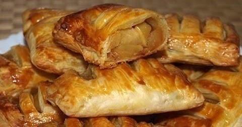 Простые и вкусные рецепты!: Слойки с яблоками