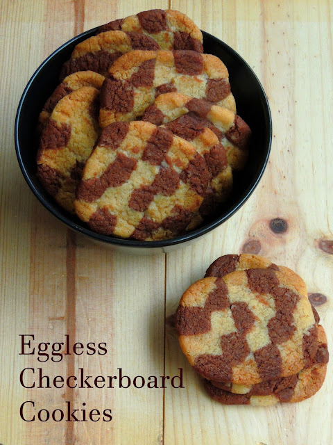 Buttery Checkerboard Cookies (Eggless)