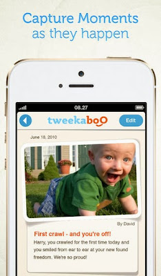 Tweekaboo makes it easy to journal pregnancy & baby's moments, share them & instantly save them to an online scrapbook.
