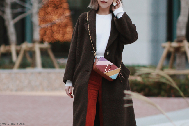 Japanese Fashion Blogger,MizuhoK,OOTD,20191221, ZARA= coat, knit top, pants,earrings ZAFUL=bag, GU= mules