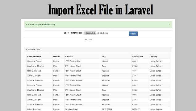 Import Excel File in Laravel | Webslesson
