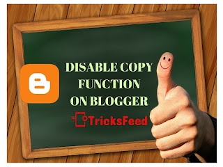 How to Disable Copy Function on Blogger By CSS or JavaScript